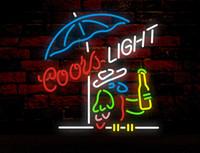 ingrosso luce del neon pappagallo-COORS LIGHT PARROT Neon Sign Tubo in vetro reale Bar Pubblicità aziendale Decorazione domestica Art Gift Display Metal Frame Size 20''X16 ''