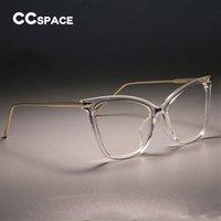 компьютеры с кошачьим глазом оптовых-Дамы Sexy Cat Eye очки рамки женщины металлические ноги CCSPACE 45077 бренд-дизайнер оптические модные очки компьютерные очки