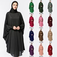 Wholesale national robes for sale - National wind with hijab robes new hot Muslim worship clothes bat clothing with hijab robes