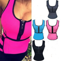 Wholesale women purple vest - New Neoprene Body Shaper Women Slimming Vest Thermo Fitness Trainer Neoprene Sauna Vest Vest Adjustable Waist Trainer Body Shaper