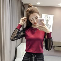 2cdf90c17fea 2018 new arrived fashion women sweaters lace patchwork causal pullovers  O-neck cotton female sweaters women clothing D286 30