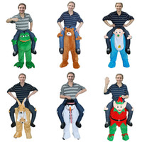Wholesale green army men costume - Animals Carrying Man's Pants Oktoberfest Funny Entertainment Pants Spoofed Cartoon Doll Teddy Bear Pants Fashion Party Prop Costume
