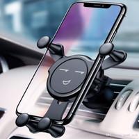 cep telefonları için araba beşiği toptan satış-Ücretsiz kargo YENTL Hava Firar Araç Montaj Cradle Tutucu Cep Telefonu için iPhone X 8 8 Artı Evrensel Emoji Araba Dağı Tutucu