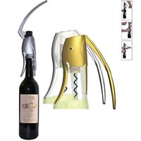 Wholesale wedding cutter - Luxury Elephant Wine Opener Corkscrew With Foil Cutter For Wedding Party Bar 2sec Quick Wine Accessories Gifts Color Box Pack WX9-356