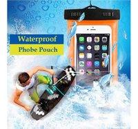 freies verschiffen blackberry beutel großhandel-Wasserdichte Beutel-Wasser-Beweis-Taschenarmband-Beutel-Kasten-Abdeckung für wasserdichten Universalfall alle Handy-freies Verschiffen
