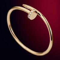 bracelet en diamant achat en gros de-Fashion Limited argent bijoux de créateurs de luxe de bijoux en or rose diamant de luxe femmes bracelet en acier inoxydable avec bracelet original boîte