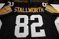Wholesale throwback football jersey online - Cheap Retro JOHN STALLWORTH  CUSTOM Throwbacks MITCHELL NESS Jersey black 41a60bd43ac9