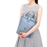 Wholesale s bag classic for sale - Lady Classic White Logo Mesh Handbag Luxury Pattern Travel Women Wash Packet Makeup Storage Mesh Case Fashion ym KK