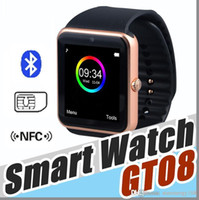 u8 ranura reloj inteligente sim al por mayor-10X No.1 kid GT08 smart watch smartwatch con ranura para tarjeta SIM DZ09 A1 U8 Health Watchs para Android Samsung e IOS iphone phone watches C-BS