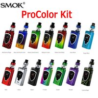 Wholesale Oled Display Color - Authentic SMOK ProColor 225W Starter Kits Multiple OLED Display Screen Pro color Kit with 5ml TFV8 Big Baby Tank 100% Original SmokTech