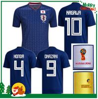 Wholesale Japan 18 - 2018 Japan KAGAWA HONDA Soccer jersey Russian World Cup national team OKAZAKI HASEBE NAGATOMO 17 18 Japan home blue Football shirts