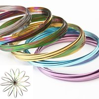 Wholesale multi ring bracelet - 10 Colors Toroflux Flow Ring Novelty Toys Stress Relief Bracelets Fidget Spinner Beyblade Burst Toys for Adults Party Decoration