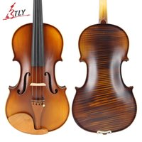 Wholesale Violin Parts - TLY Handcraft Stripes Single Back Plate Maple Acoustic Violin 4 4 3 4 Jujube Parts w  Full Set Accessories for Students