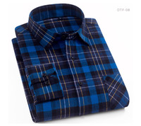 Wholesale cotton brushes for sale - Group buy Men s Cotton Casual Plaid Shirts Pocket Long Sleeve Slim Fit Comfortable Brushed Flannel Shirt Leisure Styles Tops Shirt