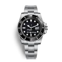 negócios automáticos venda por atacado-Relógio de luxo de alta qualidade homens assistir 40mm relógio mecânico automático de negócios esportes noctilucentes à prova d 'água 30 m sapphire relógio de pulso