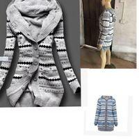 Wholesale cardigan ladies long design - Women Casual Cardigan Sweater long design Hoodie Cardigan Coats For Ladies Girls Women winter Sweater LJJK900