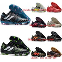 Wholesale Cheap Soccer Shoes Messi - 2018 mens soccer cleats Nemeziz Messi 17.1 FG soccer shoes nemeziz 17 football boots Agility TPU size 39 - 46 botas de futbol Cheap