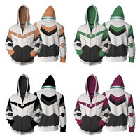 Wholesale Japan Anime Women s Clothing Sweatshirts Voltron Rance Cosplay Costume Autumn men and women anime D Printing zipper Jacket Hooded sweater