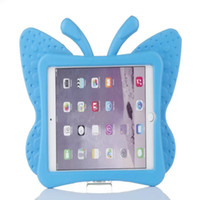 Wholesale butterfly ipad mini resale online - Hot EVA Shockproof Case for iPad Mini Cartoon Butterfly Stand Tablet Cover for iPad Mini Kids Safe Cases