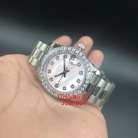 Wholesale Low Price Automatic Watch Brands - Luxury Top Brands Watch President Diamond Bezel Women Stainless Watches Lowest Price Womens Ladies Automatic Mechanical Wristwatch
