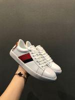 ingrosso striscia di pizzo rosso-Luxury Designer Scarpe Blue Red Stripe Uomo Casual shoe Luxury Designer Sneakers Lace-up Scarpe da corsa Versione di aggiornamento Tiger Shoes Snakes