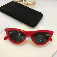 Wholesale Mirror Packaging - Luxury 40019 Sunglasses For Women Popular Fashion Designer Goggle Designer UV protection Cat Eye Frame Top Quality Come With Package