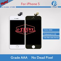 Wholesale touch screen digitizer glass panel - High Quality Tianma Glass For iPhone 5 5G 5C 5S LCD Display With Touch Screen Digitizer & Free DHL Shipping