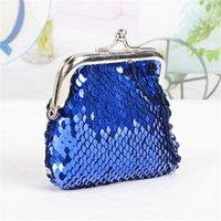Wholesale wholesale bags old keys for sale - Children Toy Bags Gift Girl Sequins Coin Purse Buckle Key Trinket Storage Bag Wallet Kid Creative lp V