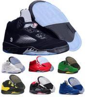 Wholesale buy leather shoe - Buy 5 Basketball Shoes Sneaker 5s V Men Women Grey Suede Oregon Ducks Olympic Grape Raptors Cement Classic Athletic Brand Tennis Sport Shoe