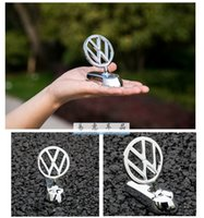 Wholesale jetta badges - For Volkswagen VW GTI Golf passat B6 Touran Tiguan Jetta MK POLO CC Scisrocco 3d metal alloy logo Frond Hood emblem badges with sticker