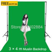 ingrosso sfondo musulmano verde-3x4M Green Screen Fotografia Valentine Sfondo sfondi di mussola di cotone per Photo Studio Chromakey