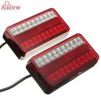1 par 20 LED 12V Tail Light Car Truck Trailer Parar Rear Reverse Auto Turn Indicator Lamp Back Up Led Lights Turn Signal Lamp