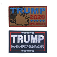 Wholesale great magic online - Trump For President Armband cm D Embroidery Badge Keep America Great Magic Sticker Armlet Bag Cap Clothing Sewing Decor hk YY