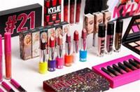 mejores brillos de labios al por mayor-Nueva colección Kylie jenner Cosmetics 21st Birthday hello 21 lip gloss lipstick sipping bonita sombra de ojos mejor calidad envío libre de DHL