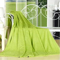 Wholesale fleece textiles - Color Random Home Textile For Air Sofa Bedding Throws Flannel Blanket Winter Warm Soft Bedsheet 150*200cm