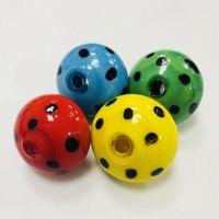 seqüestro de ajuste venda por atacado-Lindo Vidro Carb Cap Forma Cogumelo Multi-cores Dome Para Banger Dab Rig Oil Bong Acessórios DCC11