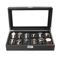 ожерелье оптовых-Makeup Ring Necklace Storage Box Holder Organizer  Casket Display Grids Jewelry Watch Winder Classic Fashion Packaging
