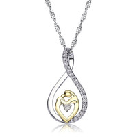Wholesale Mom Diamond - 925 Silver Mother Hold Baby Pendant Necklace With Austrian Crystal Gift For Mom Mother'S Day Gift Jewelry