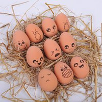 kauçuk yumurtaları toptan satış-Isırık Dayanıklı Simülasyon Pet Yumurta Elastik Topu Komik Köpek Kauçuk İfade Topları Gnaw Oyuncaklar Diş Temizleme Emoji 1 75mp gg