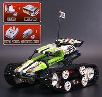 Wholesale Christmas Toy Car - lepin 20033 Tech Series The RC Track Remote-control Race Car Set Building Blocks Bricks Educational Lovely kids Christmas Gifts Toys A125