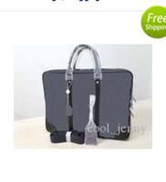 dizüstü bilgisayar çantaları toptan satış-Yüksek kalite erkekler moda tasarımcısı laptop çantası çapraz vücut omuz notebook çantası ile iş evrak bilgisayar çantası 4020