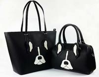 Wholesale camouflage dog bag online - Designer New York K Spade Women Black Antoine Dog Large Lane Satchel Cross Body Bag K S Brand Top Handle Bag with Crosshatched Leather