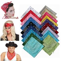 Wholesale bandana kerchief online - Colors Polyster Hip Hop Kerchief Women Men Scarf Bandana Hairband Scarves Wraps Neck Wrist Wrap Headtie Gift Blanket Towel