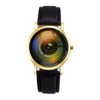 Wholesale Disk Watch - Wholesale unisex men women CD Disk Design leather watch fashion 2018 New ladies casual dress quartz students wrist watches