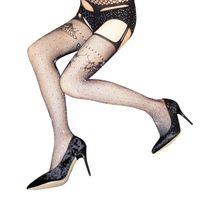 af3b91245 Wholesale rhinestone tights resale online - pb Peggybuy Sexy Women  Rhinestones Tights Stockings Fishnet Pantyhose Erotic