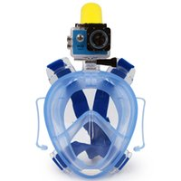 gopro face mask 2021 - Water Sports Winmax New Underwater Scuba Anti Fog Full Face Diving Mask Snorkeling Set with Earplug and Camera Holder Mount for Gopro