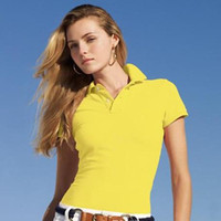 Wholesale Women S Polo - Women's Polo Shirt Summer 100% cotton High quality Women Big Horse Embroidery Lapel Polo Shirts Slim Fit Polos Top Casual Brands shirts