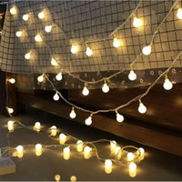 Wholesale led rechargeable ball - 1.5M 3m 6m LED ball Battery Operated LED String Lights for Xmas Garland Party Wedding Decoration Christmas Flasher Fairy Lights
