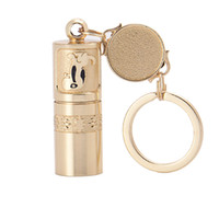 Wholesale lamp keychain for sale - 2018 Mini Golden Portable LED Flashlight Handheld Waterproof Outdoor Keychain Torch Chinese Art Lamp Novelty Items