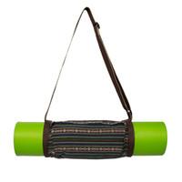 Wholesale dance mat pad - Pattern Yoga Bag Simple Portable Yoga Mat Bag Strap Carrier Dance Pilates Pad Backpack Fitness Storage Package Case